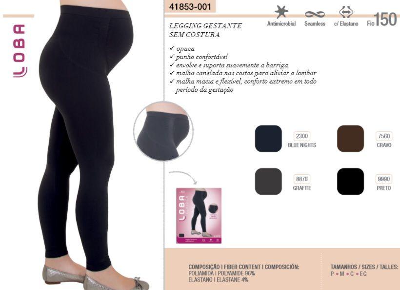 Calça Legging Gestante Loba Lupo Sem Costura 41853-001