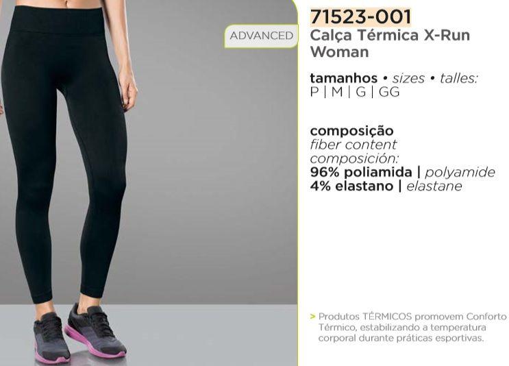 0dc1767aa Calça Térmica Feminina Compressão Lupo X-run Emana 71523-001 - ALL MODAS ...
