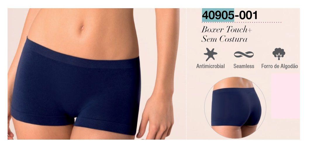 Calcinha Loba Touch+ Boxer Sem Costura Lupo 40905-001