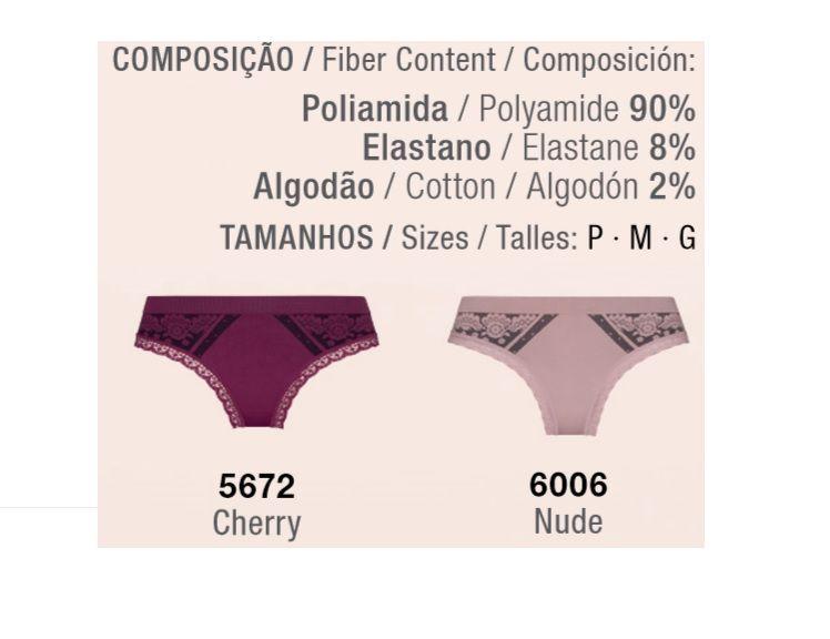 Calcinha Passion Sem Costura Loba Trend Lupo 40042-001