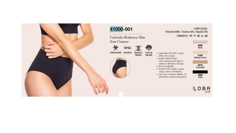 Calcinha Redutora Slim Loba Sem Costura Modeladora Lupo 41000-001