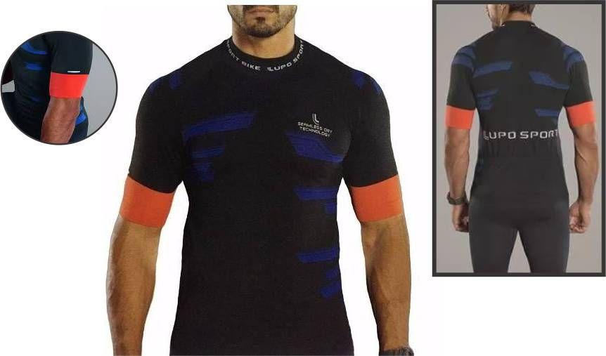 Camiseta Compressão Ciclismo Ls Bike Lupo Dry Seamless 70665-001