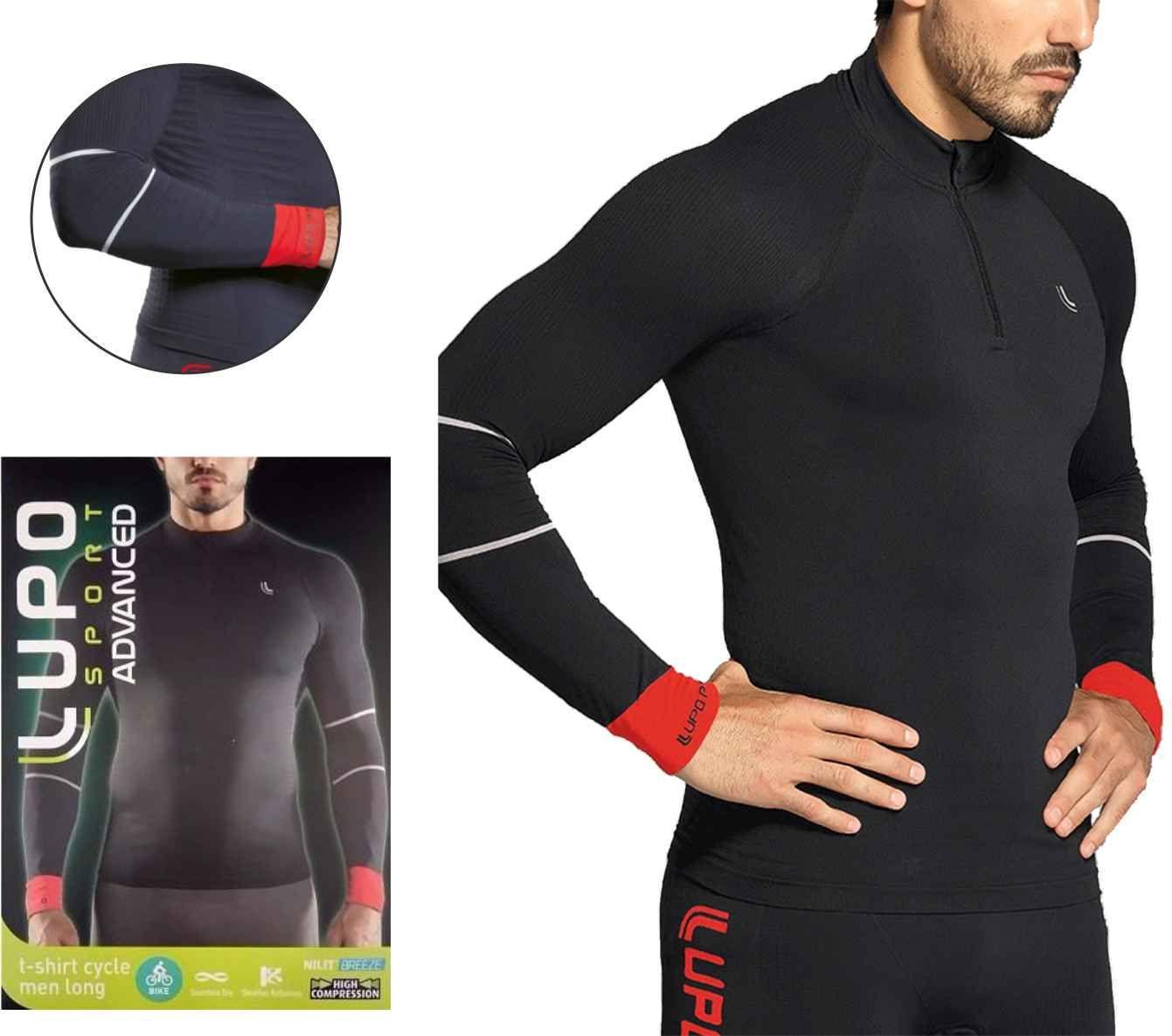 Camiseta Compressão Ciclismo T-shirt Cycle Men Long Lupo 70652-001