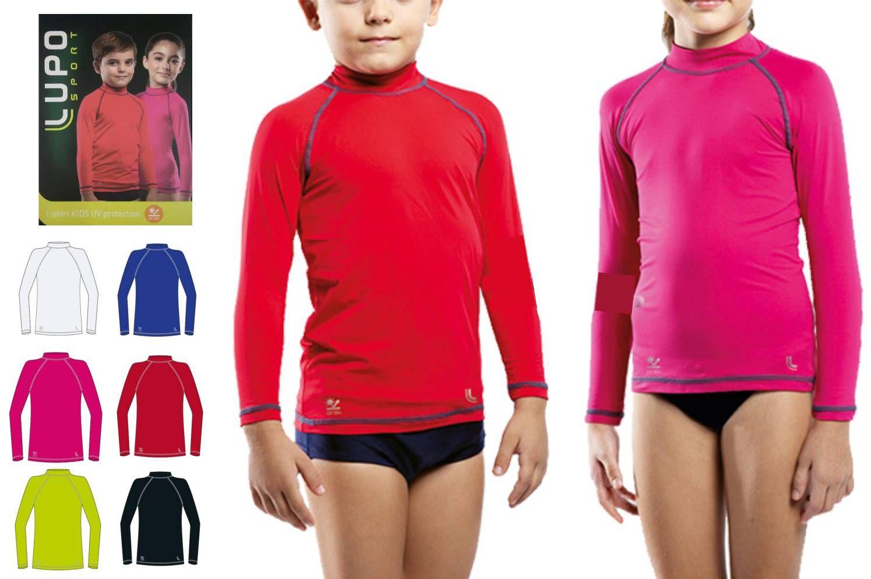 Camiseta Infantil Unissex Proteção Solar Uv 50+ Dry Lupo 77014-001 - ALL  MODAS ... 2ccaf27306b