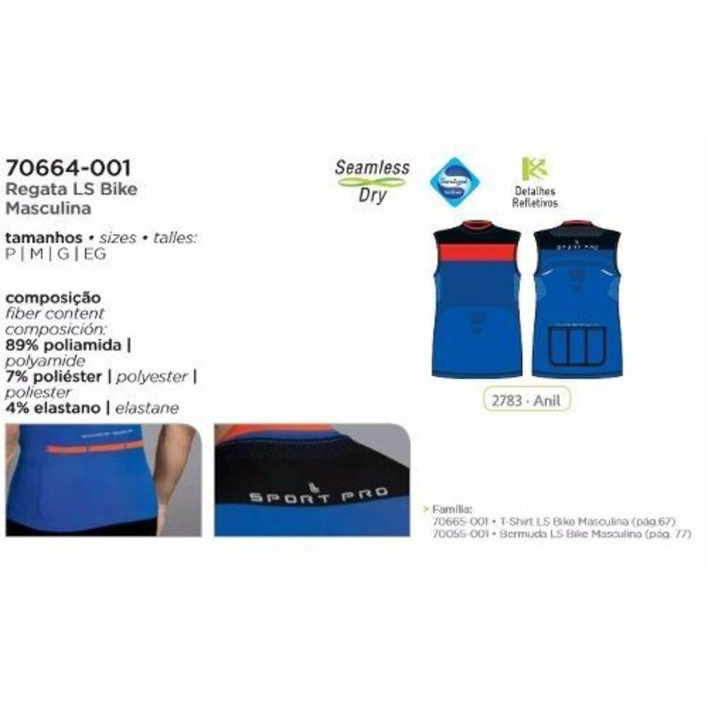Camiseta Regata Ciclismo Ls Bike Toque Gelado Nilit Uv Lupo 70664-001