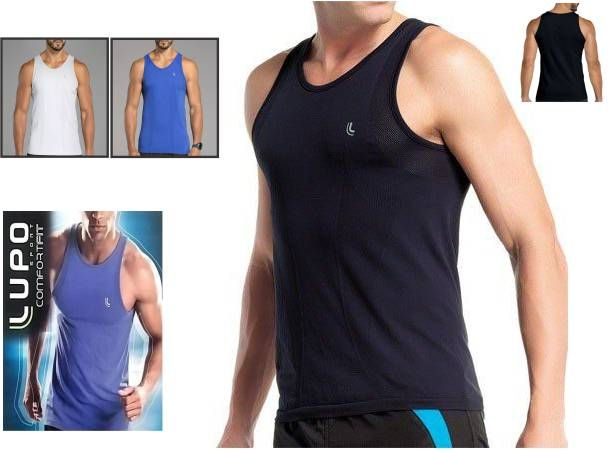 Camiseta Regata Sem Costura Lupo Running Confort Fit 70000-001