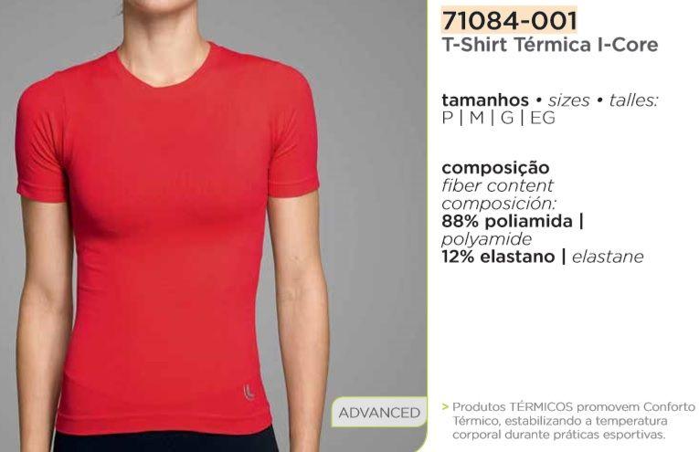 Camiseta Térmica Compressão Feminina Segunda Pele Lupo 71084-001