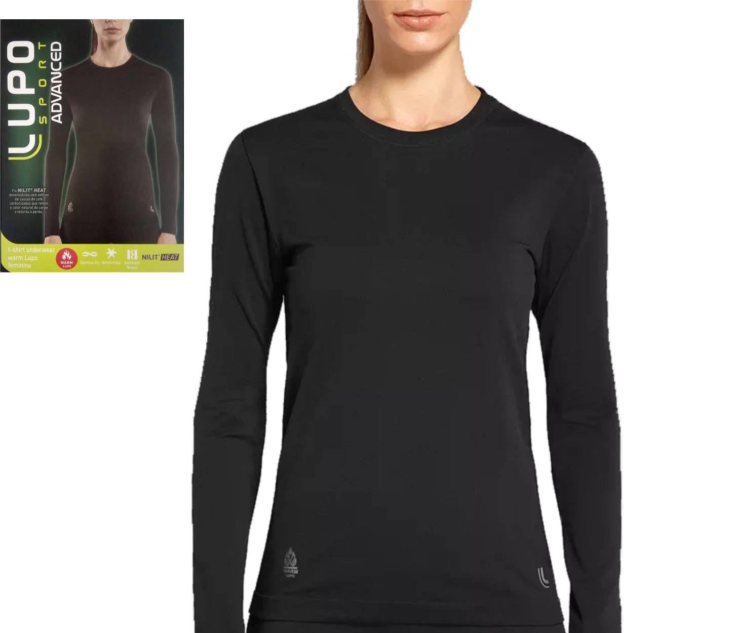 Camiseta Térmica Feminina Manga Longa Warm Lupo Nilit Heat 71633-001