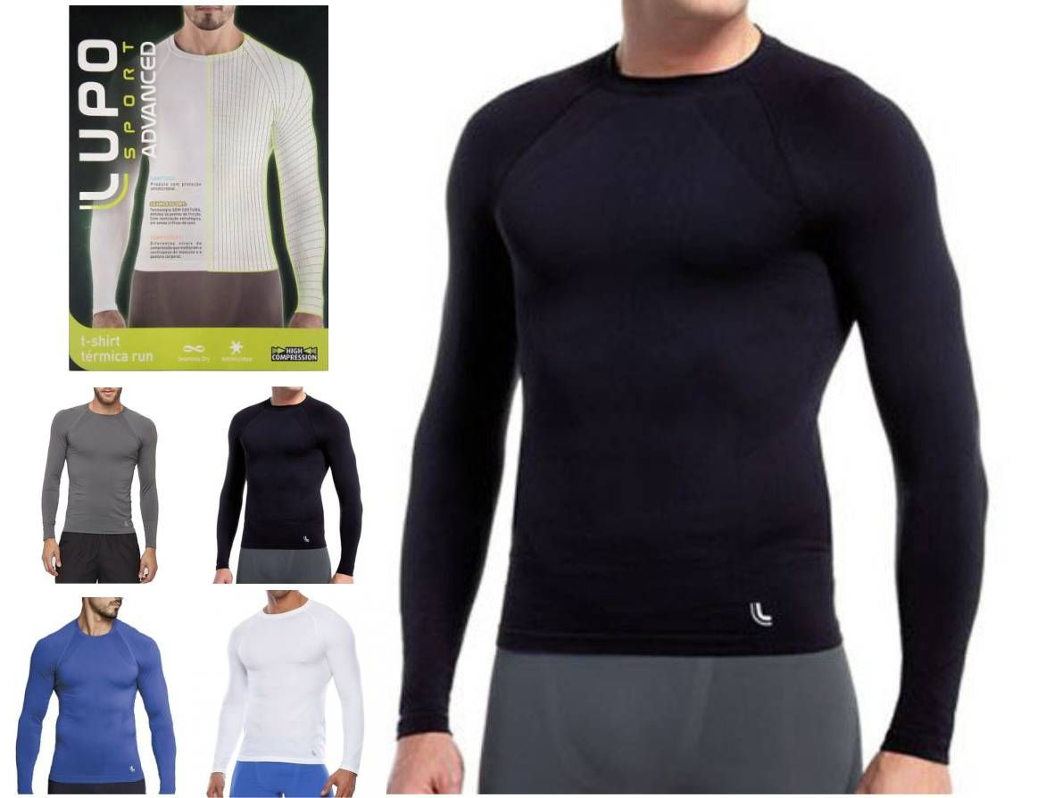 Camiseta Térmica Manga Longa Segunda Pele Lupo Sem Costura 70045-001 - ALL  MODAS ... b55a812afaace