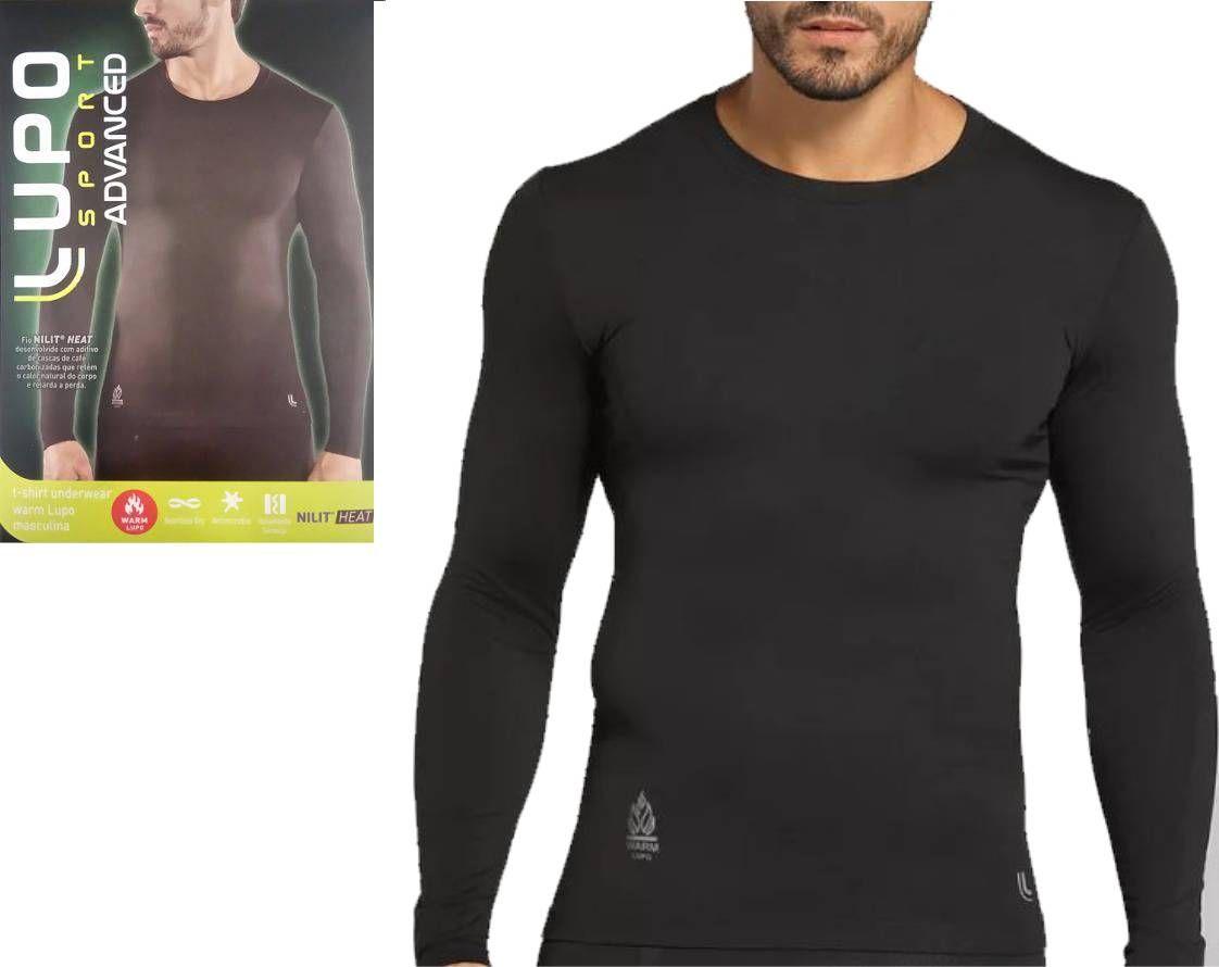 Camiseta Térmica Manga Longa Warm Lupo Sport Nilit Heat