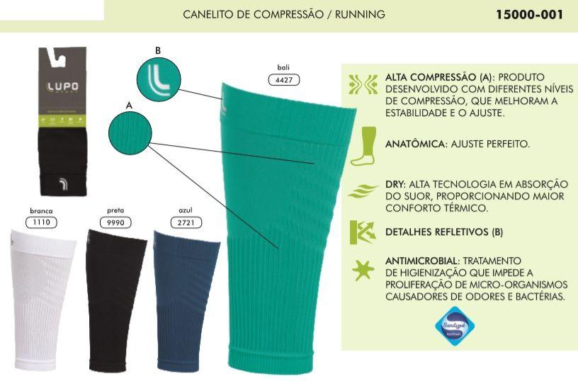 Canelito De Alta Compressão Lupo Running Panturrilha Polaina 15000-001
