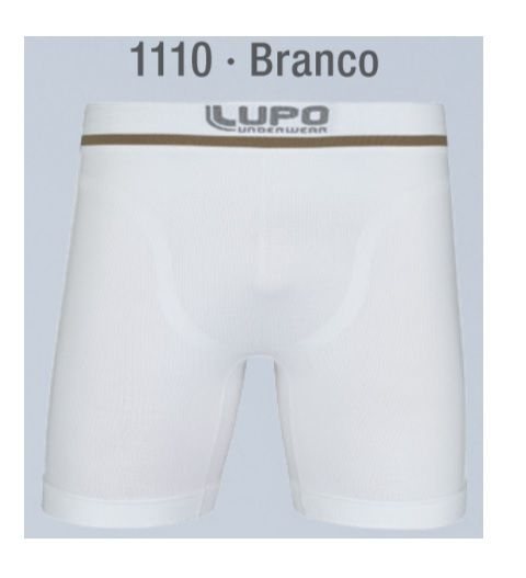 Cueca Boxer Alongada Microfibra Sem Costura Lupo 442-001
