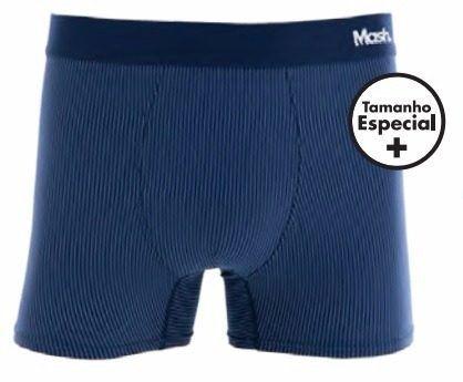 Cueca Boxer Microfibra Mash Tamanho Especial 54 A 60 Plus 150.11