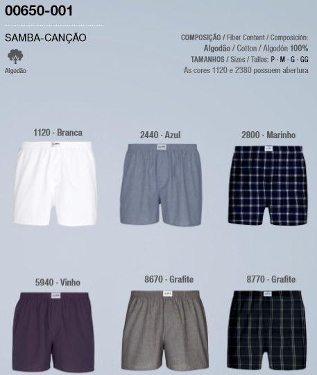Cueca Samba Canção Lupo Com Abertura 100% Algodão 650-001