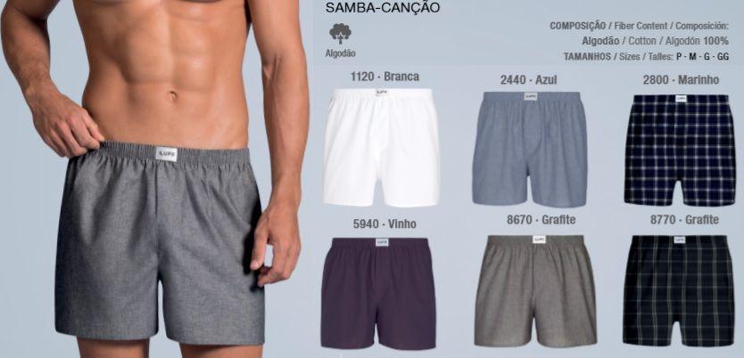 Cueca Samba Canção Lupo Sem Abertura 100% Algodão 00650-001