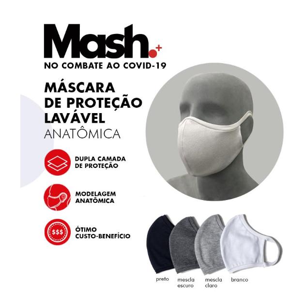 Kit 12 Mascara Protecao Facial Mash Lavavel Dupla Camada 920.19