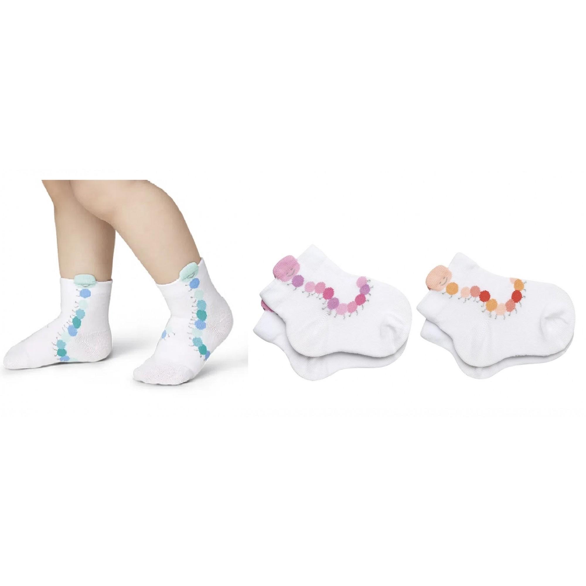 Kit 3 Meia Bebê Baby Centopéia Algodão Lupo 2038-089