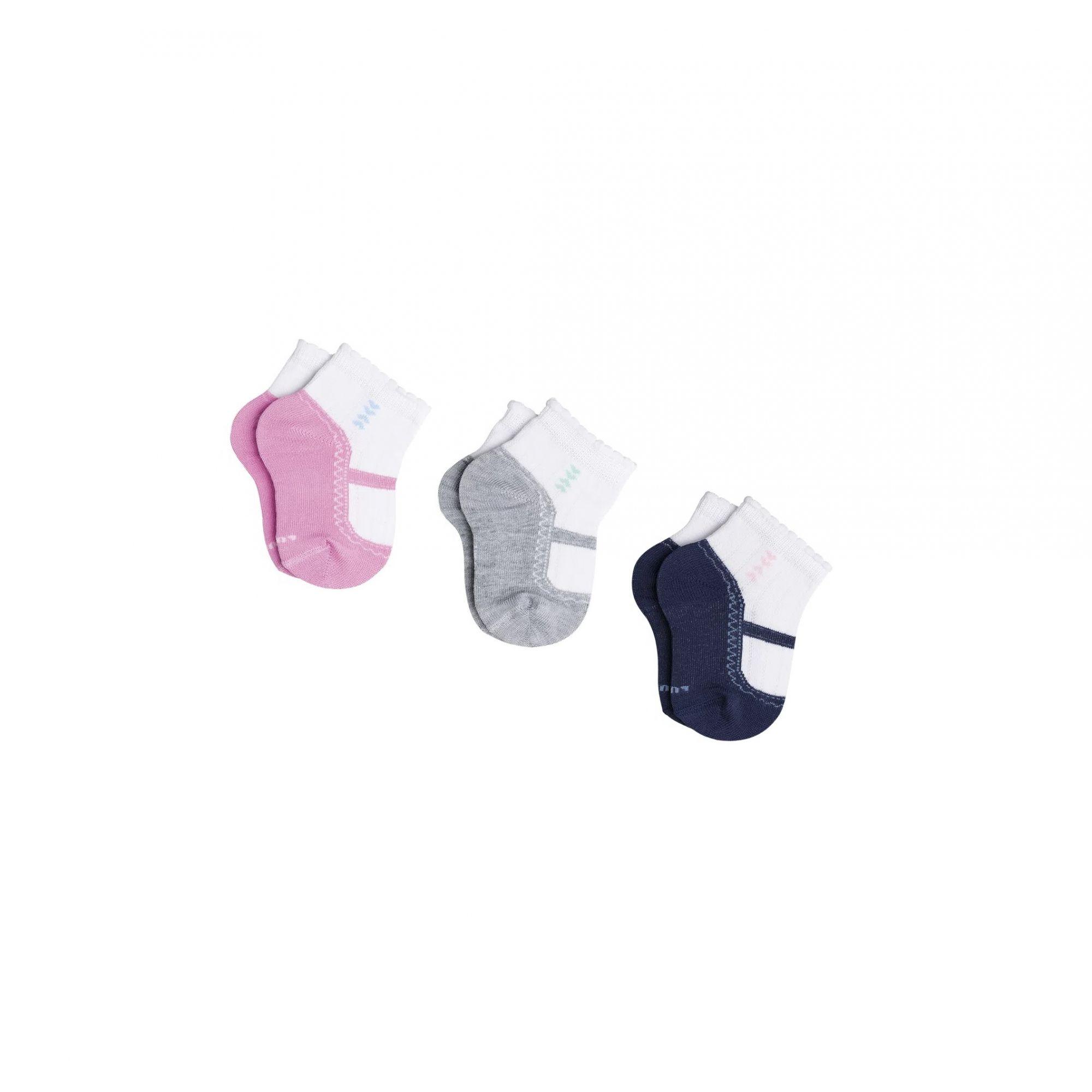 Kit 3 Meias Baby Recém Nascido Kids Menina Lupo 2000-989