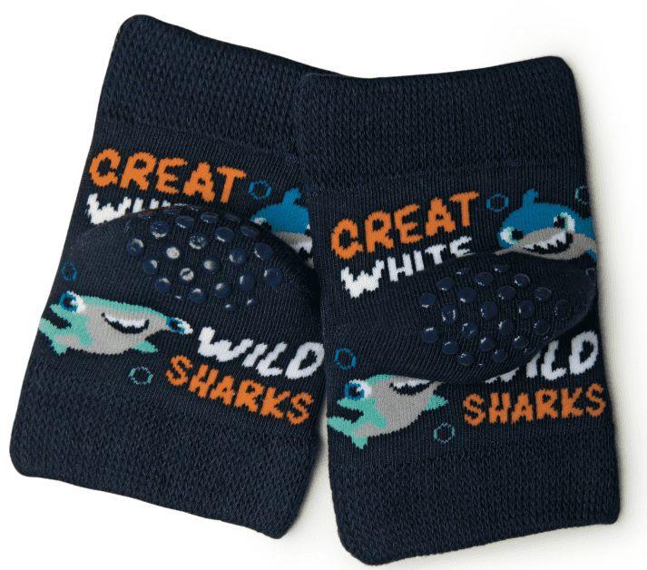 Kit 3 Pares De Joelheiras Puket Tubarão Marinho 7004 Algodão