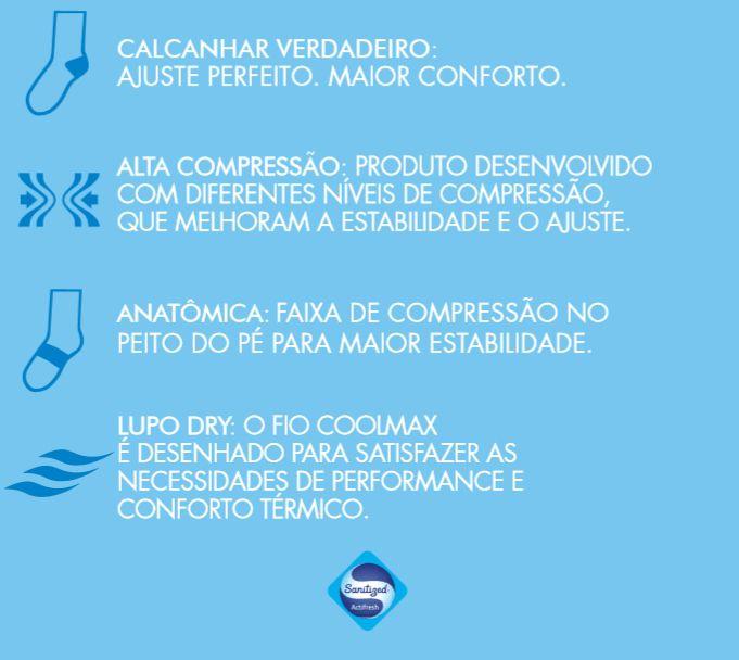 Kit 3 Pares Meia Lupo Corrida Coolmax Dry Esporte 15775-001