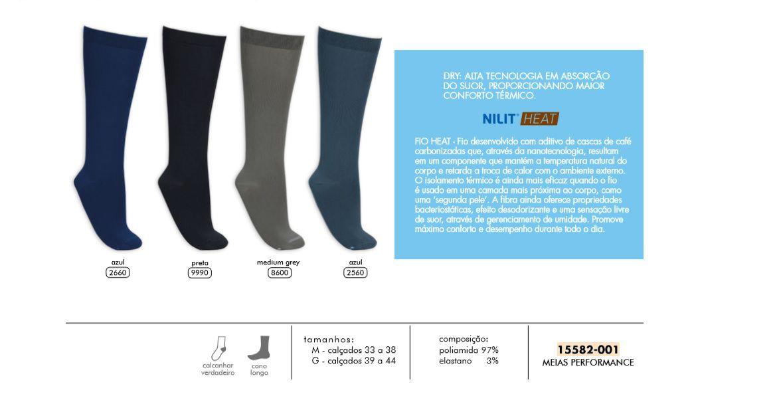 Kit 3 Pares Nilit Corrida Térmica Anti Chulé Odor 15582-001