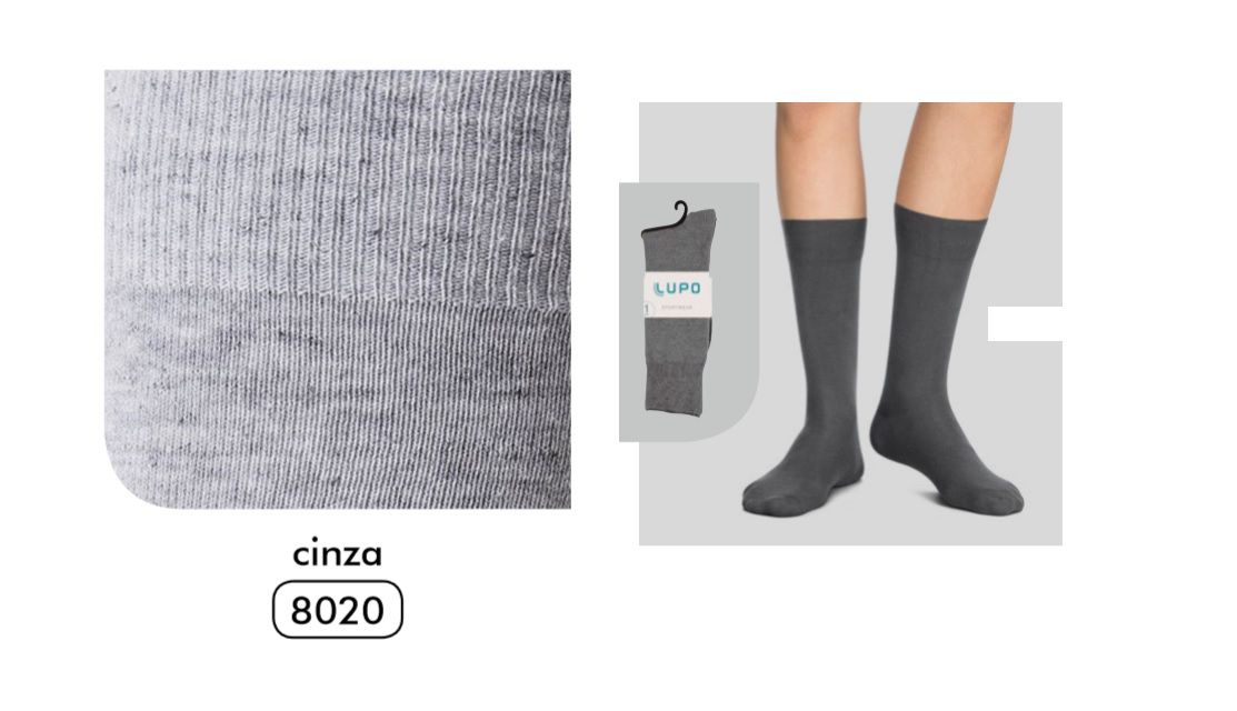 Kit 6 Meia Social Sportwear Ultrasoft Algodão Lupo 1725-089