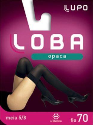 Meia 5/8 Opaca Fio 70 Lupo Fashion Rock Cosplay Elastano 5927-001.