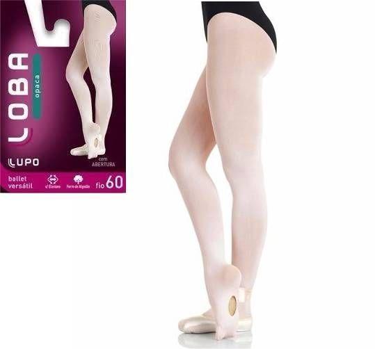 Meia Calça Ballet Versátil Loba Lupo Conversível Fio 60 Rosa 5716-001