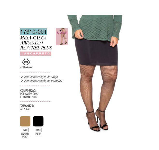 Meia Calça Loba Arrastão Raschel Plus Trend Lupo 17610-001