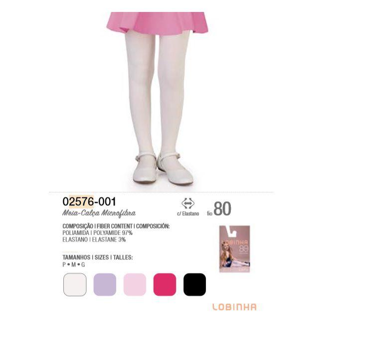 Meia Calça Lobinha Microfibra Infantil Fio 80 Lupo 2576-001