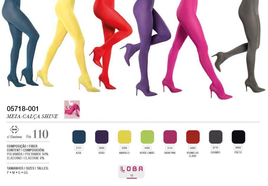 Meia Calça Trend Shine Fio 110 Lupo Colorida Fashion 5718