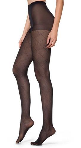 Meia Calça Xadrez Trend Fio 30 Feminina Loba Lupo 5877-001