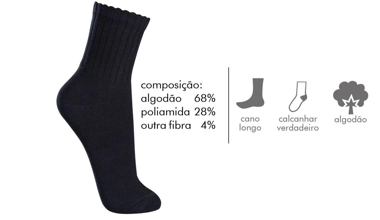 Meia Cano Longo Lupo Tamanho 37 A 48 Atoalhada Plus Especial 3290-009/3230-042