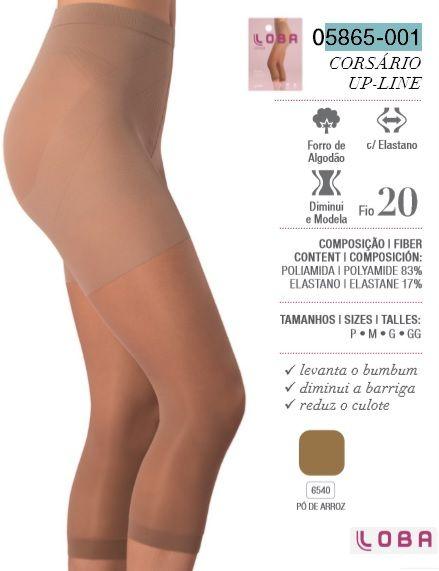 1f928c370 ... Meia Legging Corsário Loba Lupo Up-line Levanta O Bumbum 5865-001 - ALL  ...