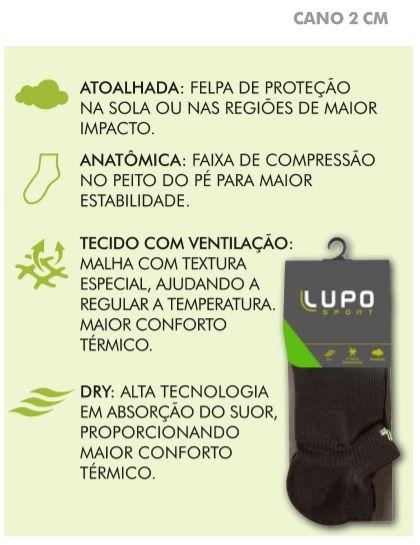 Meia Lupo Dry Sapatilha Atoalhada Corrida Caminhada 3350-003
