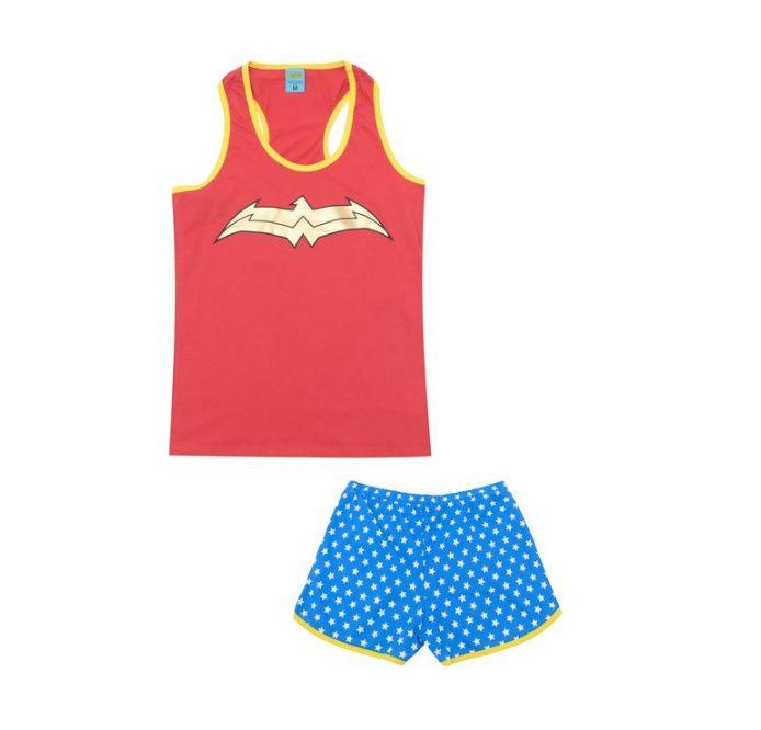 Pijama Feminino Mulher Maravilha 100% Algodão Lupo 16934-001