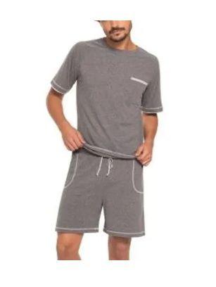 Pijama Masculino Curto Algodão Conforto Bem Estar 28115-001