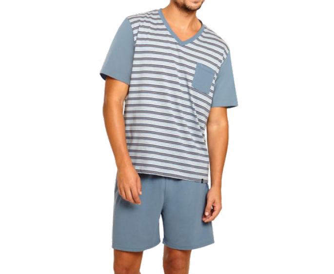 Pijama Masculino Curto Listrado Bolso Algodão Lupo 28156-001