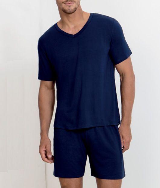 Pijama Masculino Manga Curta Em Viscose Lupo 28092-001