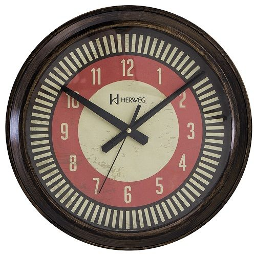 Relógio De Parede Herweg Vintage Retrô 37 Cm Ref. 6688