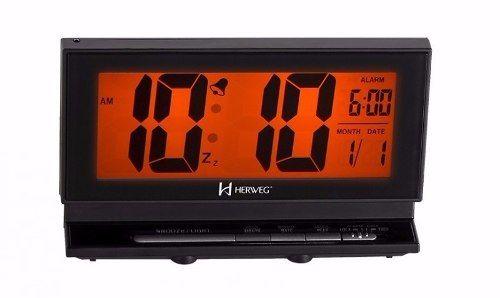 Relógio Despertador Digital Com Sensor Noturno Herweg 2946