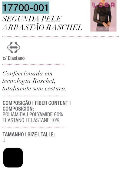 Segunda Pele Arrastão Raschel Fashion Imperdível 17700-001