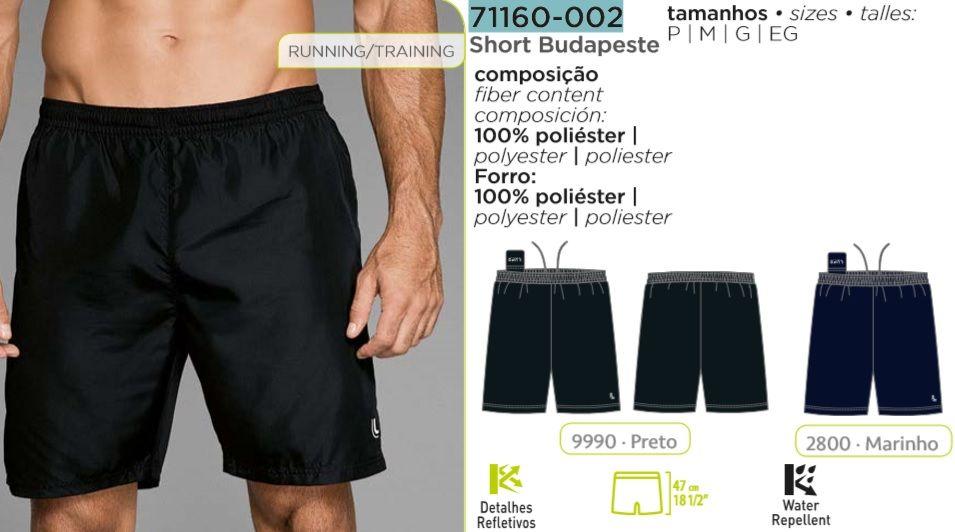 Short Budapeste Lupo Running Sport 71160-002