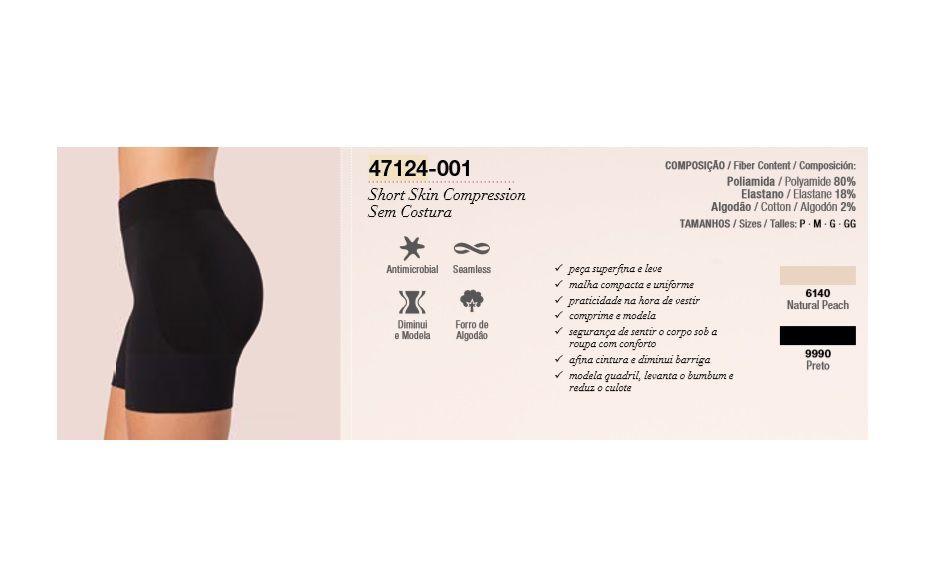 Short Loba Skin Compression Modeladora Lupo 47124-001