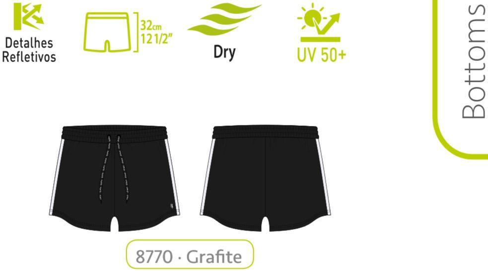 Short Lupo Feminino Corrida Detalhe Reflexivo 76395-001