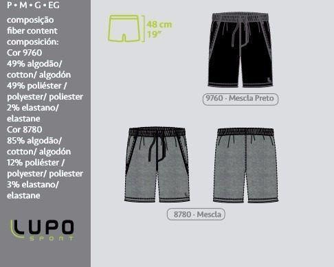 Short Moletom Lupo 76351-001