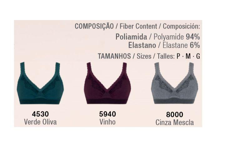 Sutiã Mescla Com Renda Loba Sem Costura Trend Lupo 41056-001