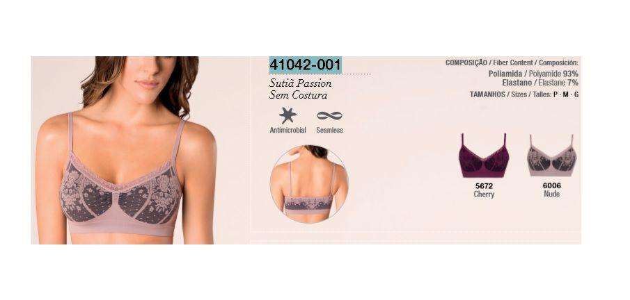 Sutiã Passion Loba Sem Costura Lupo Trend 41042-001