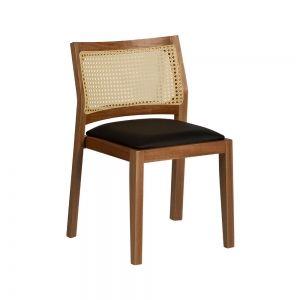 Cadeira Mad Empilhável Encosto Palha