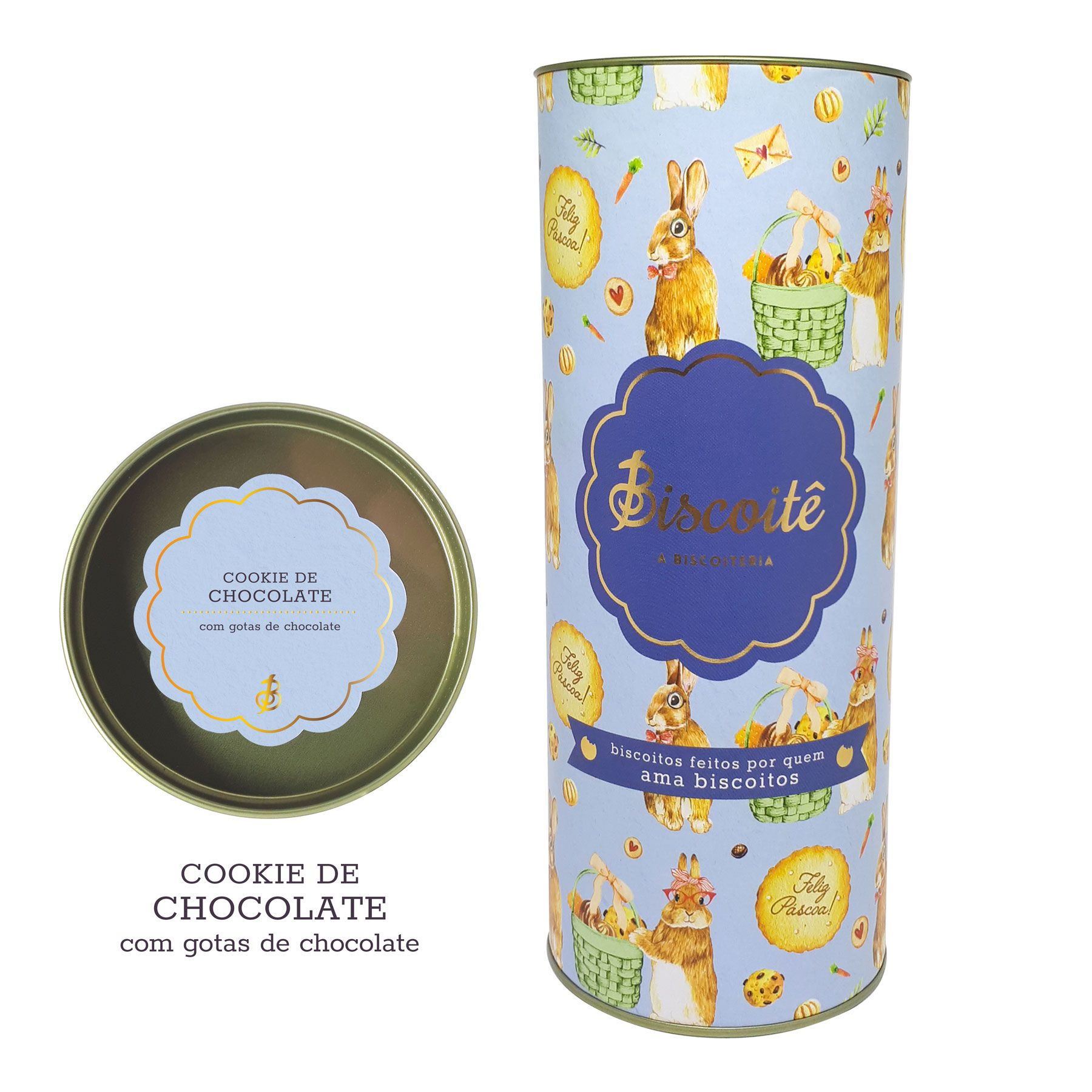 Cookie de Chocolate - LATA DE PÁSCOA  - 200g